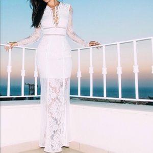 ❤️ Bohemian white dress